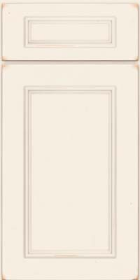 Square Recessed Panel - Solid (AB3C) Cherry in Vintage Canvas w/ Cinder Patina - Base