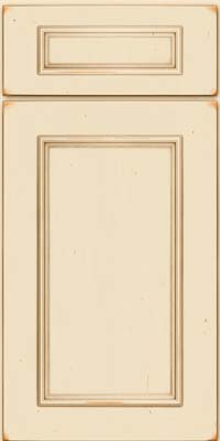 Square Recessed Panel - Solid (AB3C) Cherry in Vintage Canvas w/Cocoa Patina - Base