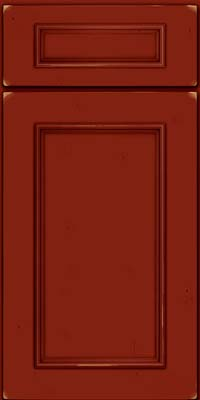 Square Recessed Panel - Solid (AB3C) Cherry in Vintage Cardinal - Base