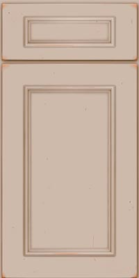 Square Recessed Panel - Solid (AB3C1) Cherry in Vintage Chai - Base
