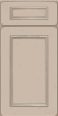 Square Recessed Panel - Solid (AB3C1) Cherry in Vintage Chai w/Cinder Patina - Base