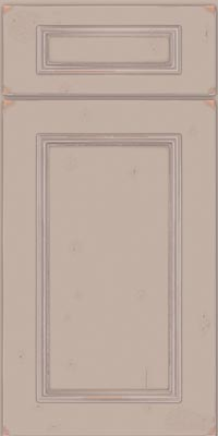 Square Recessed Panel - Solid (AB3C1) Cherry in Vintage Chai w/Coconut Patina - Base