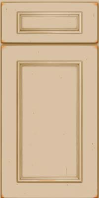 Square Recessed Panel - Solid (AB3C) Cherry in Vintage Mushroom - Base