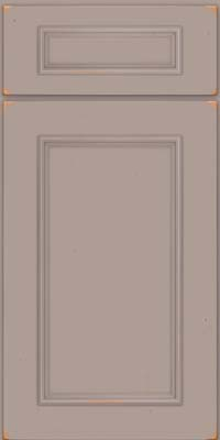 Square Recessed Panel - Solid (AB3C) Cherry in Vintage Pebble Grey - Base