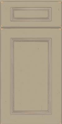 Square Recessed Panel - Solid (AB3C) Cherry in Vintage Willow w/ Cinder Patina - Base