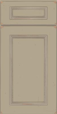 Square Recessed Panel - Solid (AB3C1) Cherry in Vintage Willow w/Coconut Patina - Base