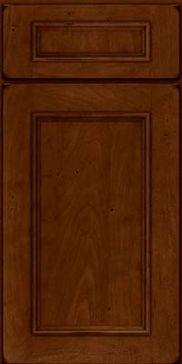 Square Recessed Panel - Solid (AB3M) Maple in Burnished Chestnut - Base