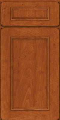 Square Recessed Panel - Solid (AB3M) Maple in Burnished Cinnamon - Base