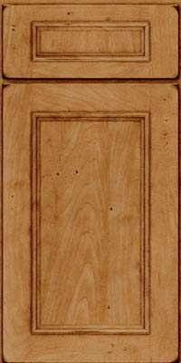 Square Recessed Panel - Solid (AB3M) Maple in Burnished Ginger - Base