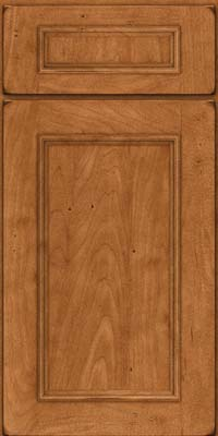 Square Recessed Panel - Solid (AB3M) Maple in Burnished Praline - Base