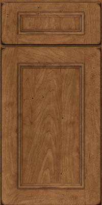 Square Recessed Panel - Solid (AB3M) Maple in Burnished Rye - Base