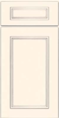 Square Recessed Panel - Solid (AB3M) Maple in Canvas w/ Cinder Glaze - Base