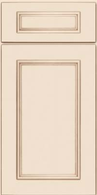 Square Recessed Panel - Solid (AB3M) Maple in Canvas w/Cocoa Glaze - Base
