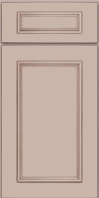 Square Recessed Panel - Solid (AB3M1) Maple in Chai w/Cocoa Glaze - Base