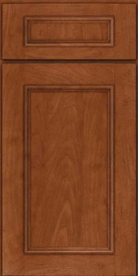 Square Recessed Panel - Solid (AB3M) Maple in Chestnut - Base