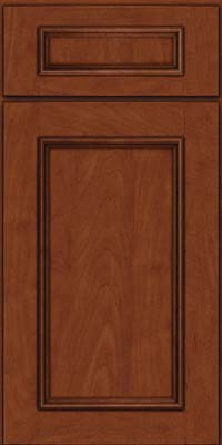 Square Recessed Panel - Solid (AB3M) Maple in Chestnut w/Onyx Glaze - Base