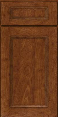 Square Recessed Panel - Solid (AB3M) Maple in Cognac - Base
