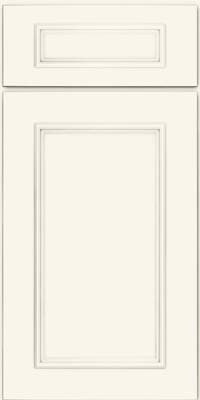 Square Recessed Panel - Solid (AB3M) Maple in Dove White - Base
