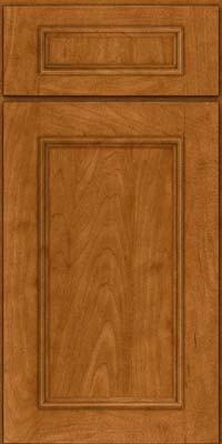 Square Recessed Panel - Solid (AB3M) Maple in Golden Lager - Base