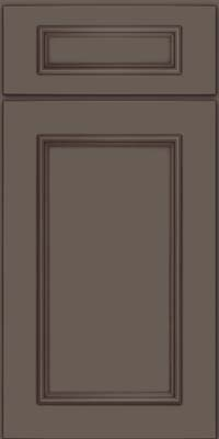 Square Recessed Panel - Solid (AB3M) Maple in Greyloft w/ Sable Glaze - Base