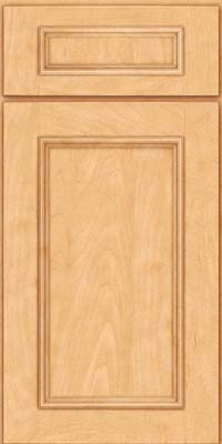 Square Recessed Panel - Solid (AB3M) Maple in Honey Spice - Base