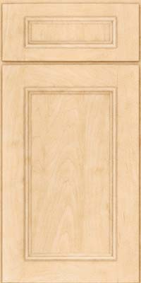 Square Recessed Panel - Solid (AB3M) Maple in Natural - Base