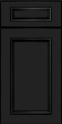 Square Recessed Panel - Solid (AB3M) Maple in Onyx - Base