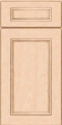 Square Recessed Panel - Solid (AB3M) Maple in Parchment - Base