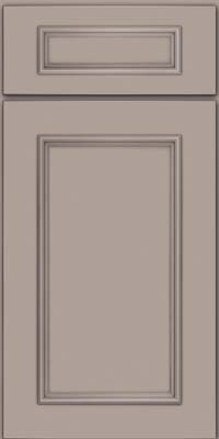 Square Recessed Panel - Solid (AB3M) Maple in Pebble Grey - Base