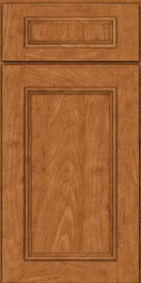 Square Recessed Panel - Solid (AB3M) Maple in Praline - Base