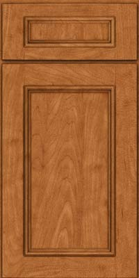 Square Recessed Panel - Solid (AB3M) Maple in Praline w/Mocha Highlight - Base
