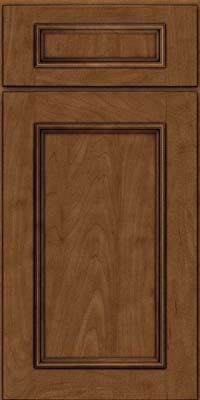 Square Recessed Panel - Solid (AB3M) Maple in Rye w/Onyx Glaze - Base