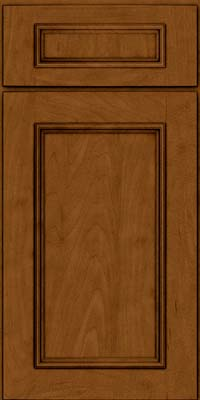 Square Recessed Panel - Solid (AB3M) Maple in Rye w/Sable Glaze - Base