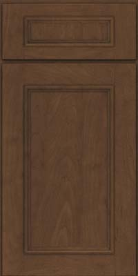 Square Recessed Panel - Solid (AB3M) Maple in Saddle Suede - Base