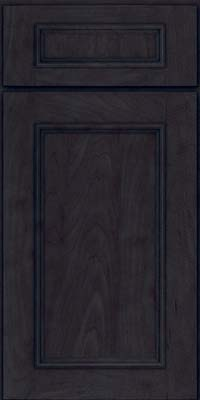 Square Recessed Panel - Solid (AB3M) Maple in Slate - Base