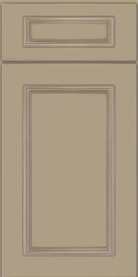 Square Recessed Panel - Solid (AB3M1) Maple in Willow w/Coconut Glaze - Base