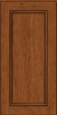 Square Recessed Panel - Solid (AB3C) Cherry in Antique Chocolate w/Mocha Glaze - Wall