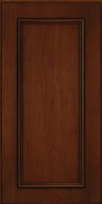 Square Recessed Panel - Solid (AB3C) Cherry in Autumn Blush w/Onyx Glaze - Wall