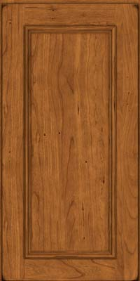 Square Recessed Panel - Solid (AB3C) Cherry in Burnished Golden Lager - Wall