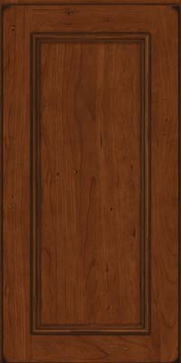 Square Recessed Panel - Solid (AB3C) Cherry in Burnished Autumn Blush - Wall