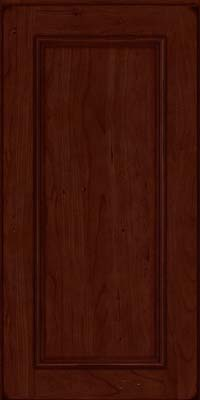 Square Recessed Panel - Solid (AB3C) Cherry in Burnished Cabernet - Wall