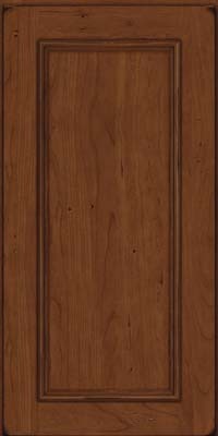 Square Recessed Panel - Solid (AB3C) Cherry in Burnished Chocolate - Wall