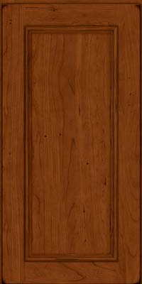 Square Recessed Panel - Solid (AB3C) Cherry in Burnished Cinnamon - Wall