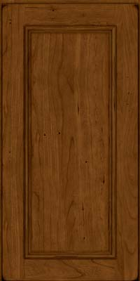 Square Recessed Panel - Solid (AB3C) Cherry in Burnished Ginger - Wall