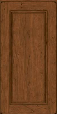 Square Recessed Panel - Solid (AB3C) Cherry in Burnished Rye - Wall