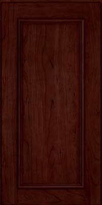 Square Recessed Panel - Solid (AB3C) Cherry in Cabernet - Wall