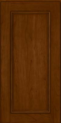 Square Recessed Panel - Solid (AB3C) Cherry in Chocolate - Wall
