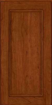 Square Recessed Panel - Solid (AB3C) Cherry in Cinnamon - Wall