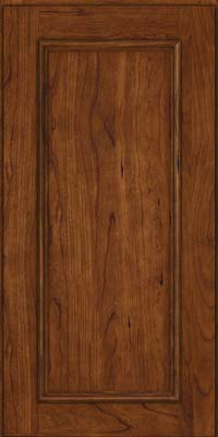 Square Recessed Panel - Solid (AB3C) Cherry in Cognac - Wall