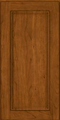 Square Recessed Panel - Solid (AB3C) Cherry in Golden Lager - Wall